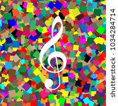 music violin clef sign. g clef. ...   Shutterstock .eps vector #1034284714