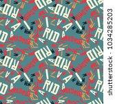 madrid creative pattern....   Shutterstock .eps vector #1034285203