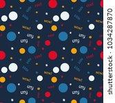 kids bubble creative pattern.... | Shutterstock .eps vector #1034287870