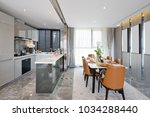 decoration and design of modern ...   Shutterstock . vector #1034288440