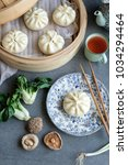 Small photo of Delicious and healthy homemade meals / Vegetarian Steamed Buns / Make extra, frozen in freezer for later use and steamed with electric steamer or chinese bamboo steamer