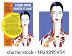 template flyer. abstract... | Shutterstock .eps vector #1034295454