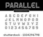 vector of modern alphabet... | Shutterstock .eps vector #1034296798