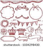 girlish icons set. hand drawn... | Shutterstock .eps vector #1034298430
