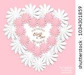 wedding invitation. wedding...   Shutterstock .eps vector #1034301859