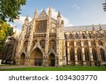 westminster abbey  the...   Shutterstock . vector #1034303770