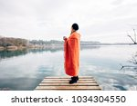 young nomad adventurer and... | Shutterstock . vector #1034304550