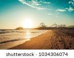 sunset in santa monica  view on ... | Shutterstock . vector #1034306074