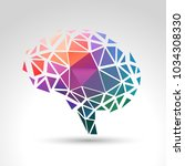 concept of memory loss and... | Shutterstock .eps vector #1034308330