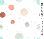 seamless pattern with stars ... | Shutterstock .eps vector #1034310148