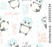 seamless childish pattern with... | Shutterstock .eps vector #1034310154