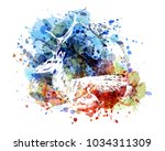 vector color illustration of... | Shutterstock .eps vector #1034311309