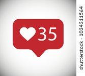 modern like red icon. vector... | Shutterstock .eps vector #1034311564