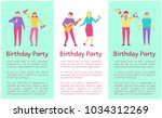 birthday party collection ... | Shutterstock .eps vector #1034312269