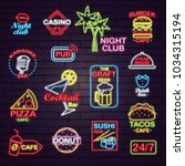 neon signboards for night and... | Shutterstock .eps vector #1034315194