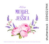 marriage invitation card with... | Shutterstock .eps vector #1034321944