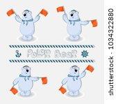 polar bear sailors signals... | Shutterstock .eps vector #1034322880