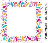 feast vector frame art graphics ... | Shutterstock .eps vector #1034326078