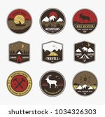 set logo for travel and...   Shutterstock .eps vector #1034326303
