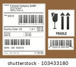 packaging labels   stickers | Shutterstock .eps vector #103433180