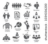 business management icons. pack ...   Shutterstock . vector #1034336200