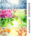 four seasons. a pictures that... | Shutterstock . vector #1034338243