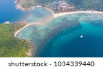 aerial view from the drone on... | Shutterstock . vector #1034339440