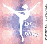ballerina in dance on artistic...   Shutterstock .eps vector #1034339683