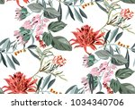 beautiful tropical pattern with ... | Shutterstock .eps vector #1034340706