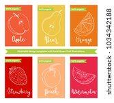 fruit label or sticker template ... | Shutterstock .eps vector #1034342188