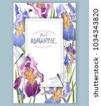 vector vintage botanical frame... | Shutterstock .eps vector #1034343820