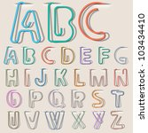 clip paper in form alphabet... | Shutterstock .eps vector #103434410