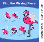 find the missing piece... | Shutterstock .eps vector #1034344384