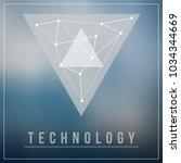 technology logo design with... | Shutterstock .eps vector #1034344669