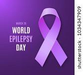 world epilepsy day. purple... | Shutterstock .eps vector #1034347909