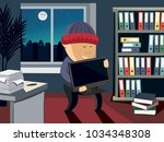 Thief Steals A Computer In Th...