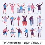 vector background in a flat...   Shutterstock .eps vector #1034350078