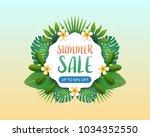 summer sale background banner... | Shutterstock .eps vector #1034352550