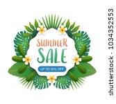 summer sale background banner... | Shutterstock .eps vector #1034352553