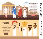 ancient rome 2 flat horizontal... | Shutterstock .eps vector #1034353168