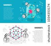 set of horizontal isometric... | Shutterstock .eps vector #1034353174