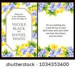 vintage delicate invitation... | Shutterstock .eps vector #1034353600