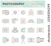 photography thin line icons set ... | Shutterstock .eps vector #1034354299