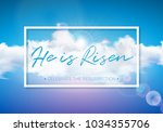 easter holiday illustration... | Shutterstock .eps vector #1034355706