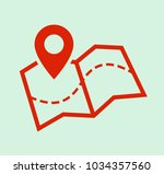 map and pin  location icon | Shutterstock .eps vector #1034357560