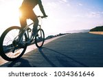 cyclist riding bike in the... | Shutterstock . vector #1034361646