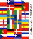 16 europe national flag pattern ...   Shutterstock . vector #103436606