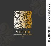 vector emblem. can be used for... | Shutterstock .eps vector #1034369326