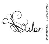 beauty salon inscription with... | Shutterstock .eps vector #1034369980