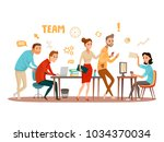business people teamwork... | Shutterstock .eps vector #1034370034